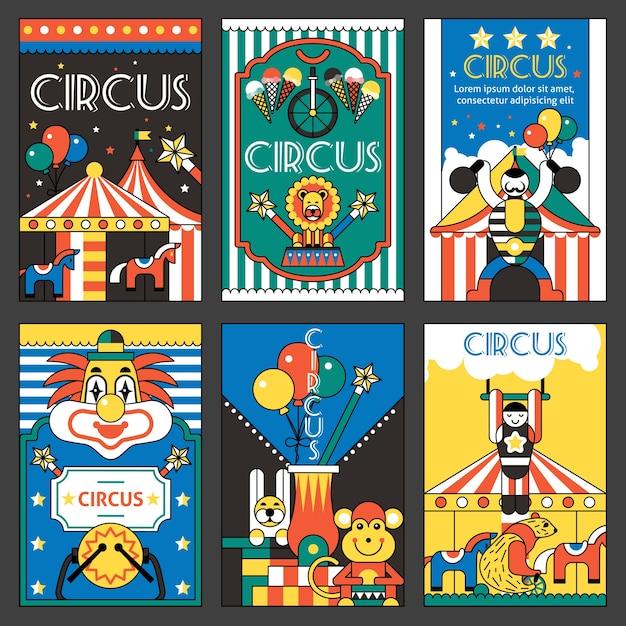 Affiches Rétro Circus Vecteur gratuit
