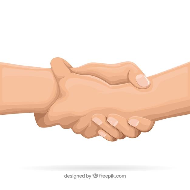 Aider La Main à Soutenir Le Fond Dans Un Style Plat Vecteur gratuit