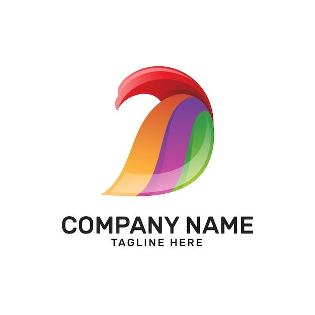 Aigle Coloré Oiseau Aile Logo Vecteur Premium
