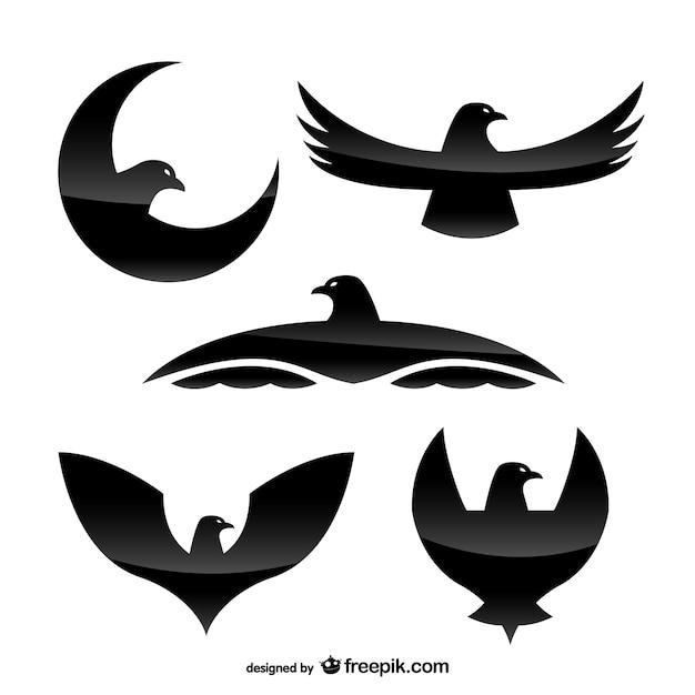 Aigle Modèles De Logo Avec La Texture Cristalline Vecteur Premium