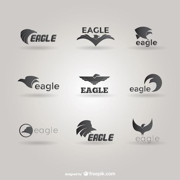 Aigles Paquet Logo De Modèle Vecteur Premium