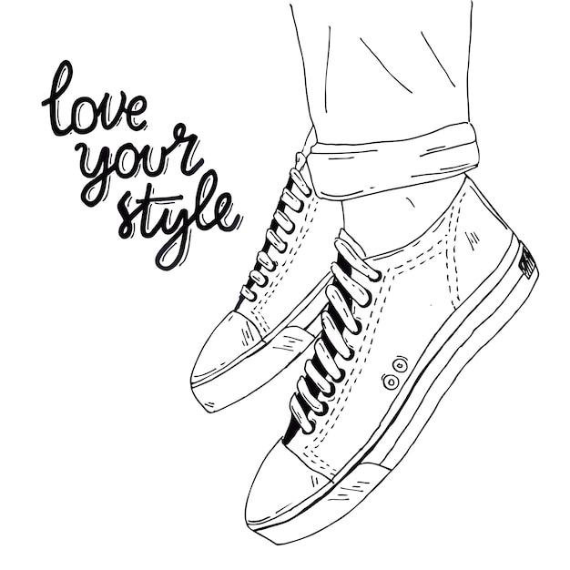 Aime Ton Style Vecteur Premium