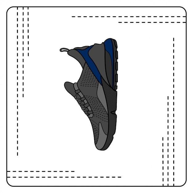 Air sneaker Vecteur Premium