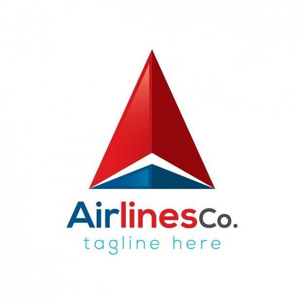 Airlines company logo template Vecteur gratuit