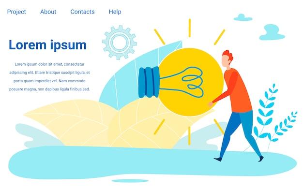 Ajouter de nouvelles idées à la page d'atterrissage communautaire Vecteur Premium