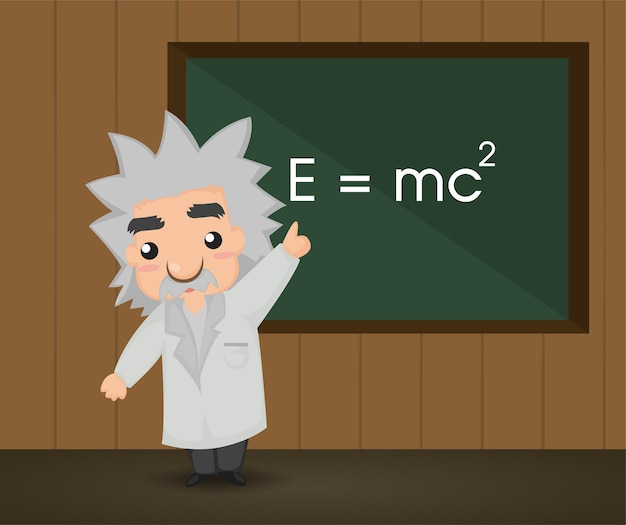 Albert einstein. Vecteur Premium