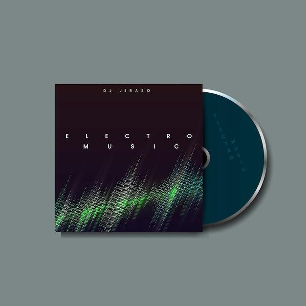 Album de musique électro Vecteur gratuit