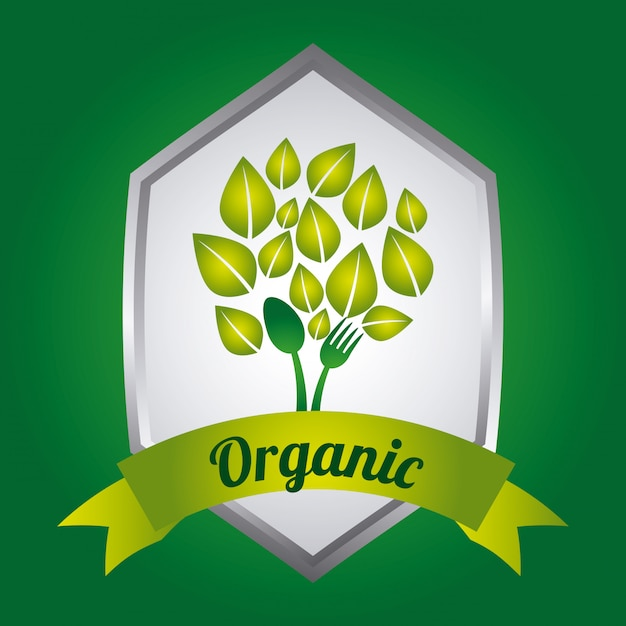 Alimentation biologique Vecteur gratuit