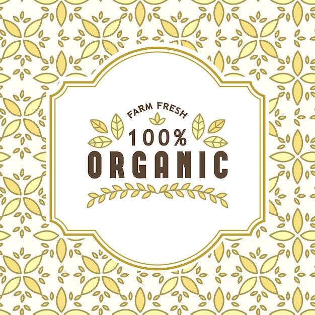 Aliments biologiques et produits naturels Vecteur gratuit