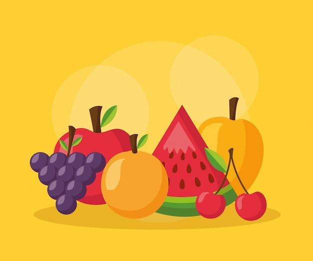 Aliments sains frais Vecteur gratuit