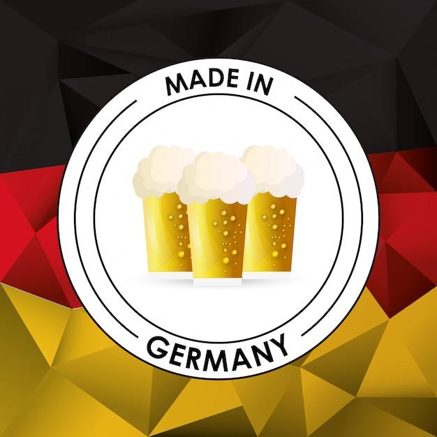 Allemagne oktoberfest bière emblème image Vecteur Premium