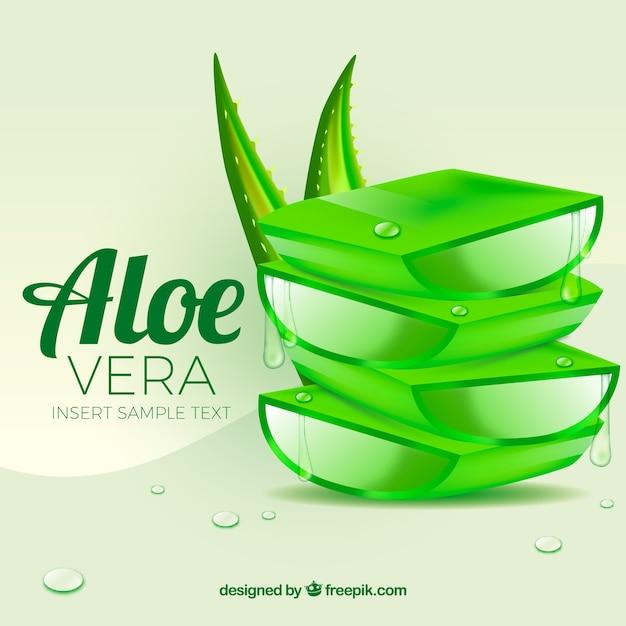 Aloe vera background Vecteur gratuit