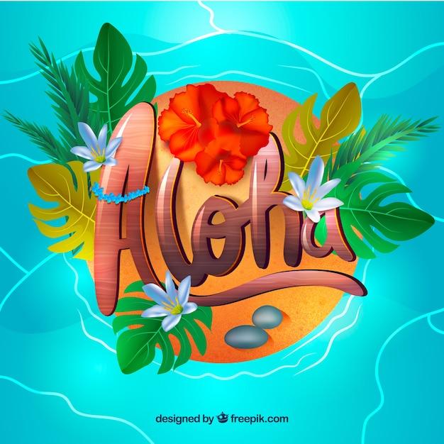 Aloha background d'eau Vecteur gratuit