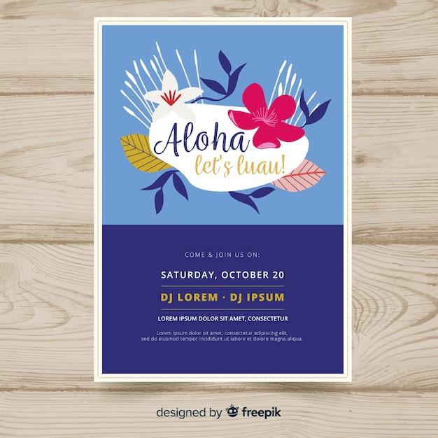 Aloha Party Banner Vecteur gratuit
