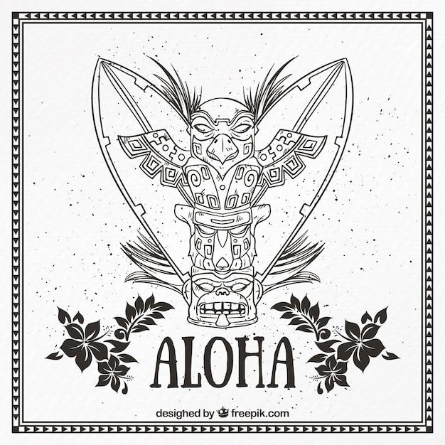 Aloha totem Vecteur gratuit