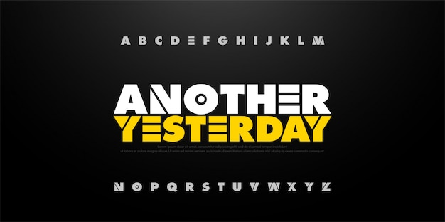 Alphabet abstrait gras police d'amusement. typographie sport Vecteur Premium