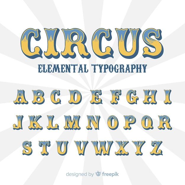 Alphabet de cirque vintage Vecteur gratuit