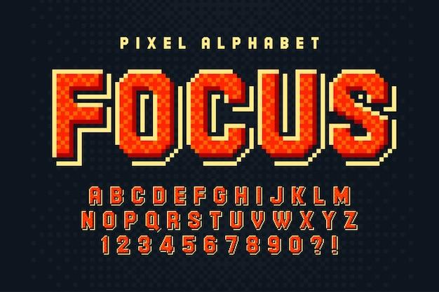 Alphabet Coloré 8 Bits Avec Création De Logo Vecteur Premium