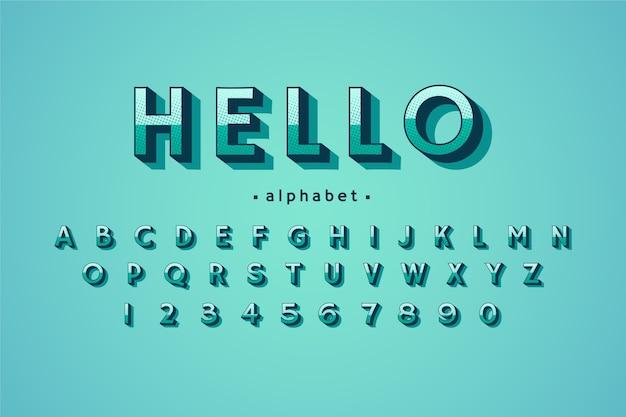 Alphabet Comique 3d Vecteur gratuit