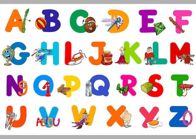 Alphabet éducatif Pour Les Enfants Vecteur Premium