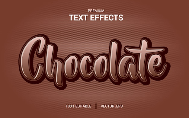 Alphabet Font Coffee Chocolate Typography Text Logo Brand, With Modern Typeface Text Effect Vecteur Premium