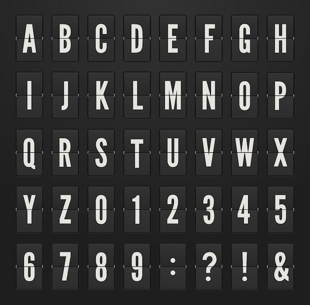 Alphabet Sur L'illustration Du Tableau De Bord Mécanique. Vecteur Premium