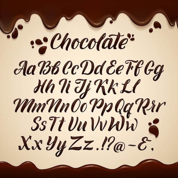 Alphabet latin dans le style liquide Vecteur Premium