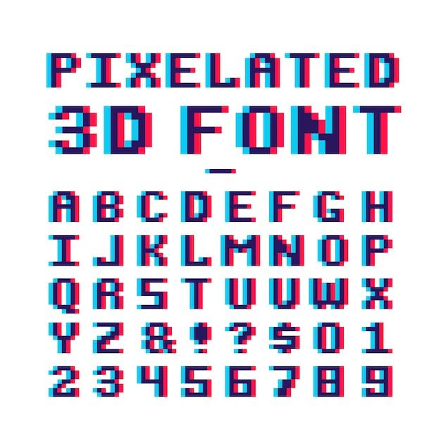 Pixel Alphabet Télécharger Des Vecteurs Gratuitement