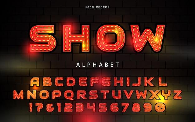 Alphabet Police Ampoule Vecteur Premium