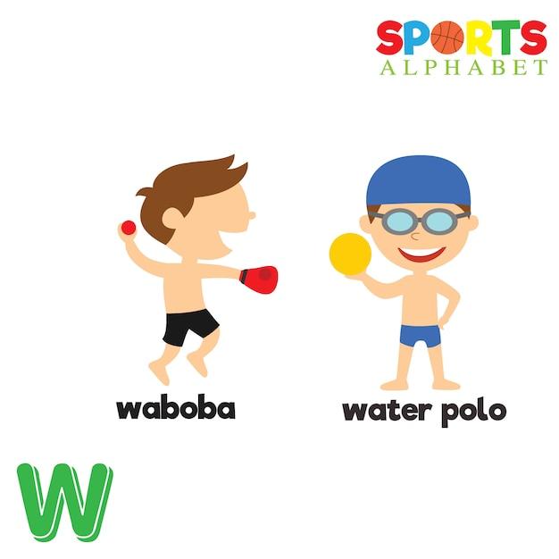 Alphabet sportif Vecteur Premium