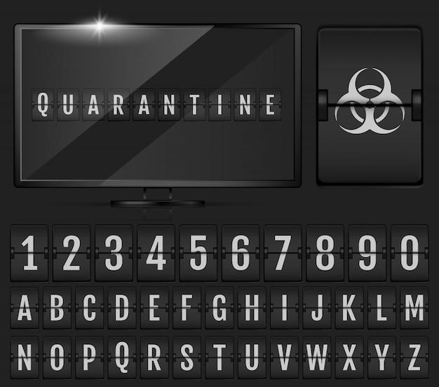 Alphabet De Tableau De Bord Mécanique. Alphabet Doomsday. Vecteur Premium