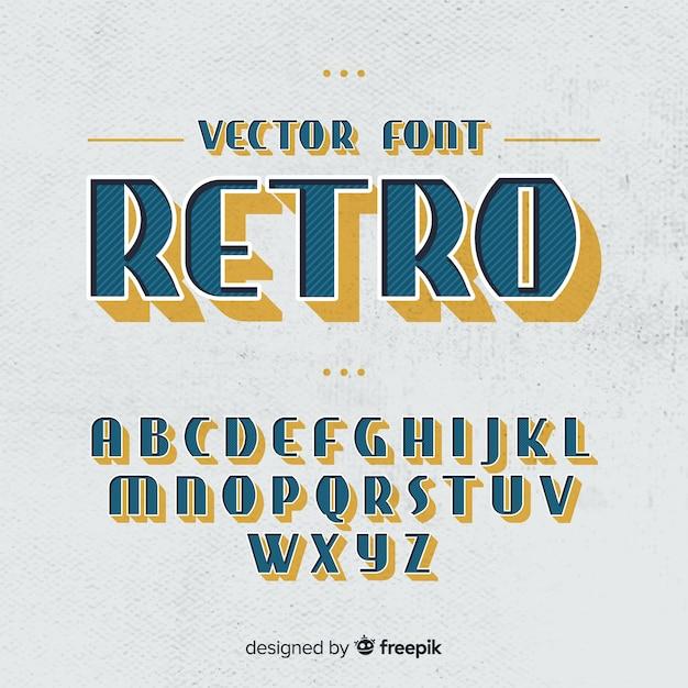 Alphabet vintage Vecteur gratuit