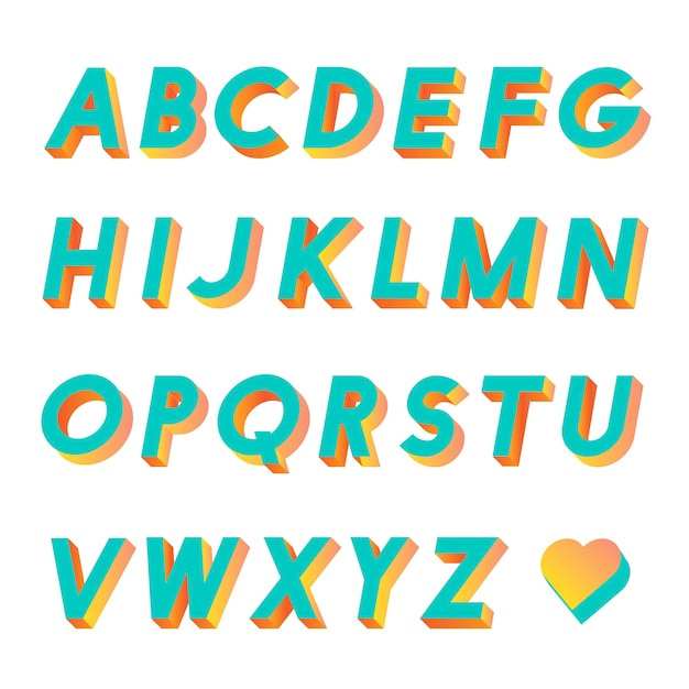 Alphabet Vecteur gratuit