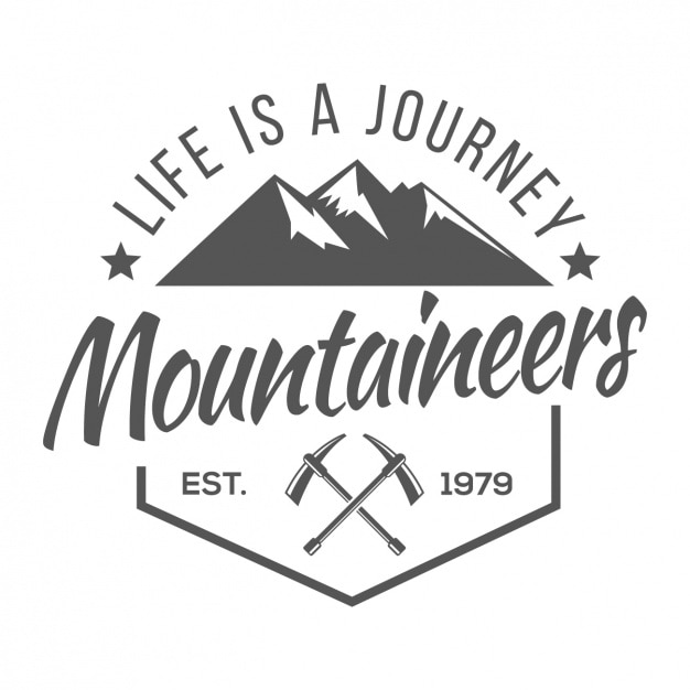 Alpinisme logo modèle Vecteur gratuit