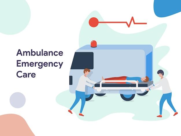Ambulance emergency care illustration Vecteur Premium