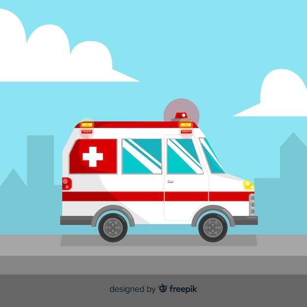 Ambulance Plate Vecteur gratuit