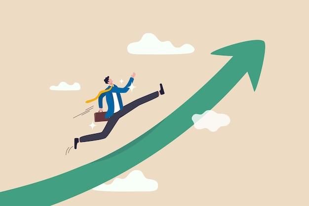 Amélioration Du Travail, Cheminement De Carrière Pour Grandir, Réussite Et Succès Dans Le Travail Ou Le Leadership Pour Gagner Un Concept D'entreprise Vecteur Premium