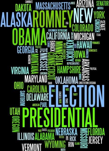 Américain élection nuage de mots Vecteur gratuit