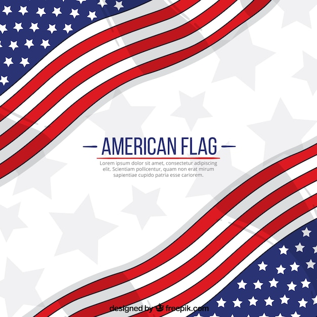 American Flag Pattern Background Vecteur gratuit