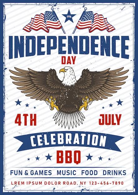 American National Bird Eagle Avec Indicateur Vecteur gratuit