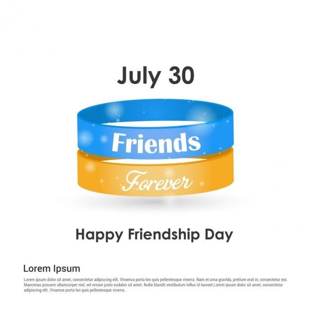 Amis bracelets pour toujours Vecteur gratuit