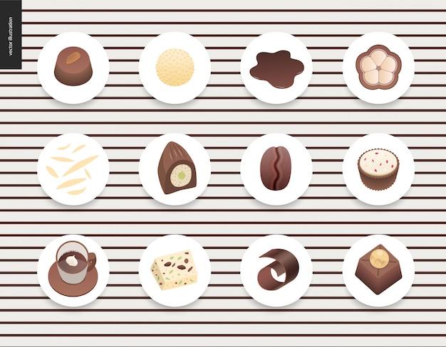 Amour chocolat au printemps Vecteur Premium