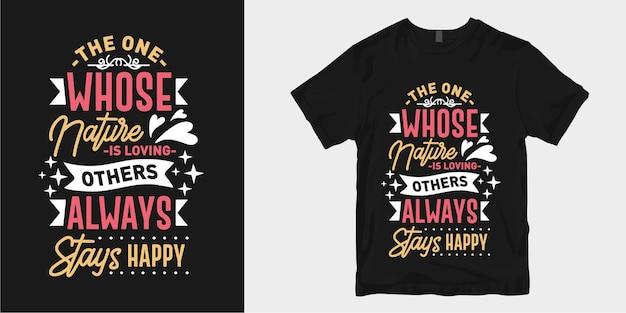 Amour Inspirant Et Citations De Slogan De Conception De T-shirt De Typographie Romantique Vecteur Premium