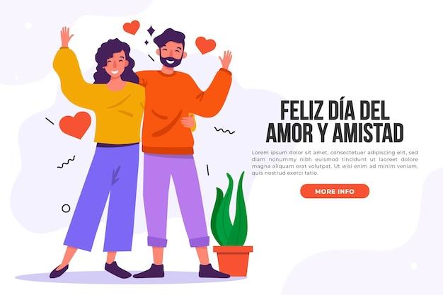 Amour Jour Heureux Couple Et Plantes Vecteur gratuit
