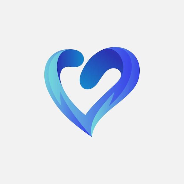 Amour logo design pour votre entreprise Vecteur Premium