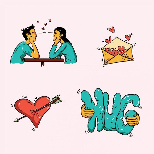 L'amour de ma vie Vecteur Premium