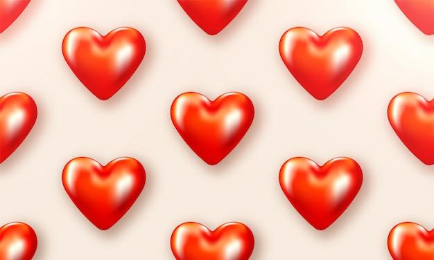 L'amour De La Saint-valentin Est Magnifique. Brochure Spéciale Avec Coeurs. Carte Affiche Cadeau. Bannière De Vente Pour Une Journée Romantique. Vecteur Premium