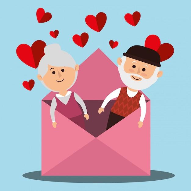 Amour Et Saint Valentin Vecteur gratuit