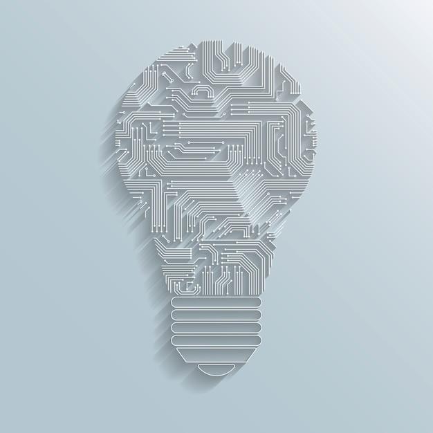 Ampoule de circuit imprimé Vecteur gratuit