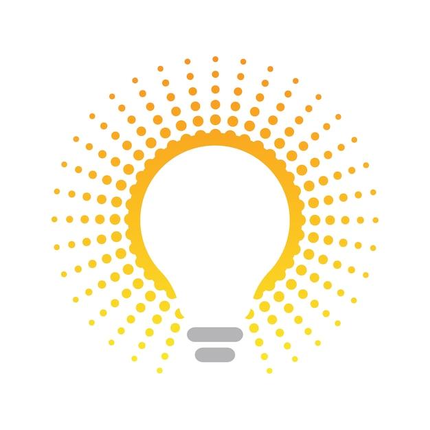 Ampoule, concept amical d'énergie Vecteur Premium